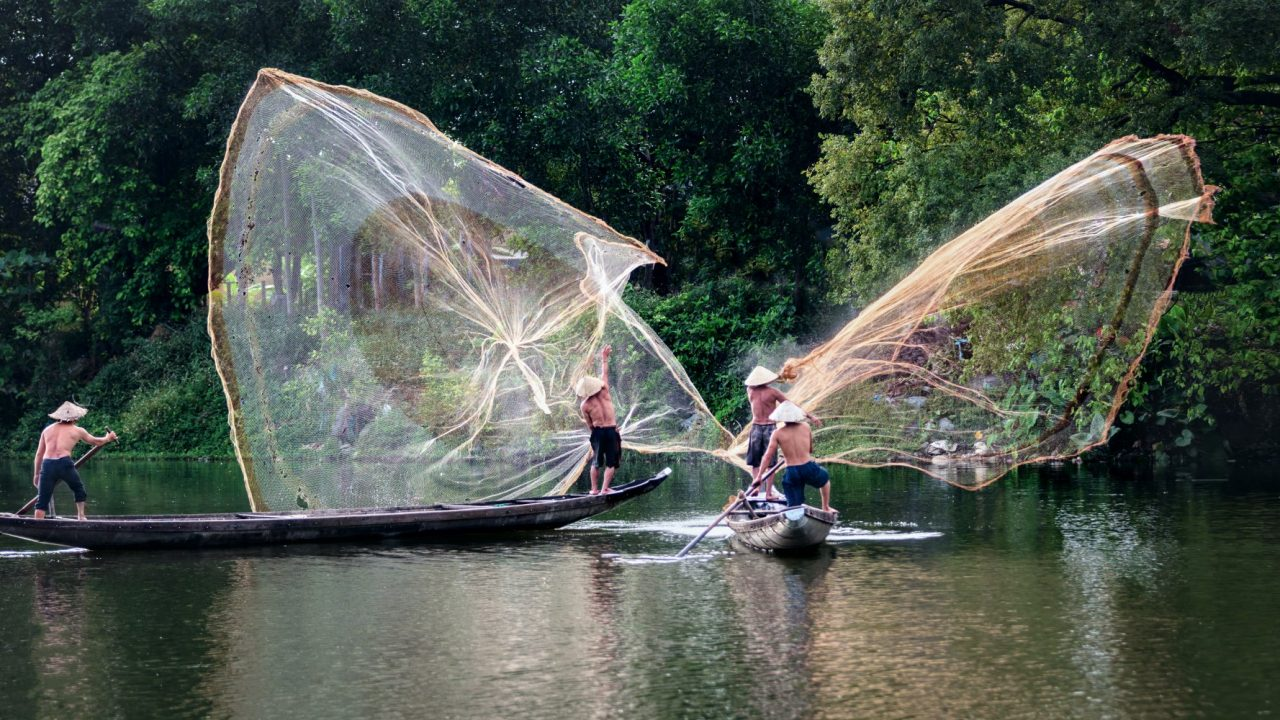 Fishermen in Vietnam