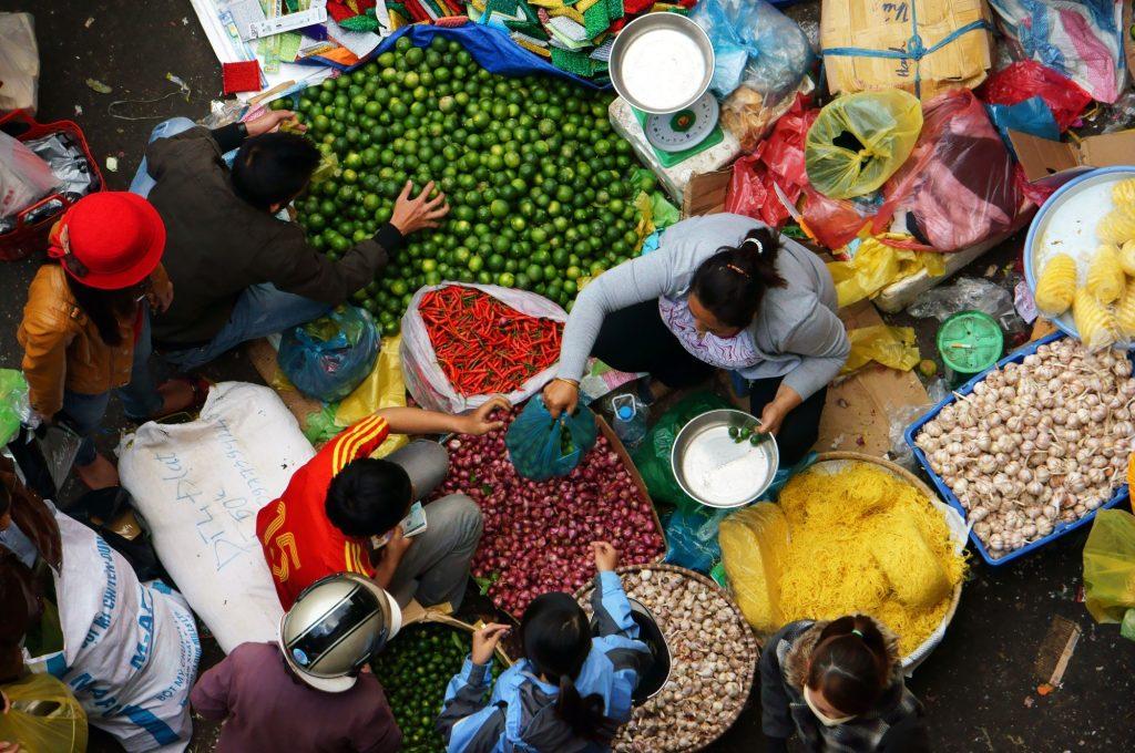 Marketplace in Vietnam