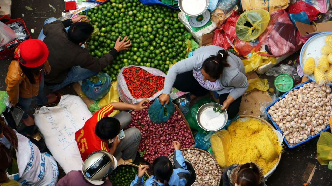Marketplace in Vietnam